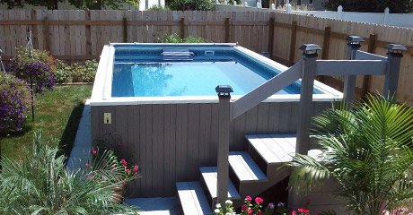 Fastlane pools swim spas swim spa lap pools for Cheap deep pools
